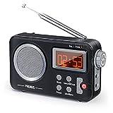 Radio Dab PRUNUS J-409, Radio Portátil FM, Radio Altavoz Bluetooth con función de preselección, Función de Hora, Equipado con Pantalla Grande y Perilla Grande