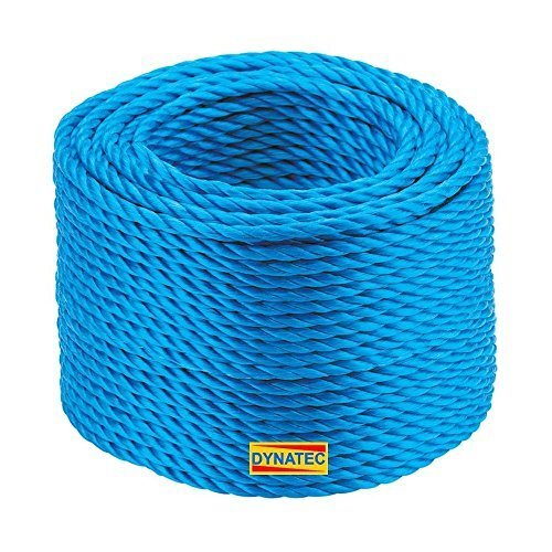 220 Metre X 6mm Blue Polypropylene Rope Load Securing Boat Fishing Camping 220m