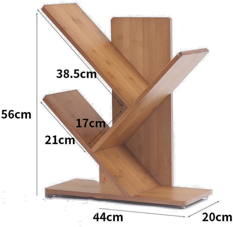 Tree Shaped Wooden Bookshelf,Thickened Open Shelf 2-6 Tier Ladder Shelf Decorative Frame Multifunctional Storage Organizer -A 44x20x56cm(17x8x22inch)