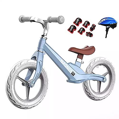 Baby Balance Bike, Baby Walker Bicicleta de entrenamiento para niños con casco y equipo de protección, Asiento/pedales ajustables, Scooter para niños pequeños