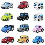 Coches de Juguetes Cars 12 Coches Metalicos Juguete Mini Tire hacia...