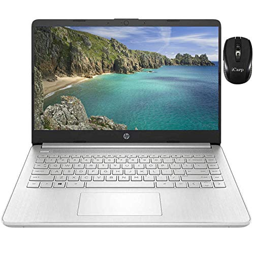 "2020 Premium HP 14 High Performance Business Laptop I 14"" Full HD IPS Display I 10th Gen Intel Quad-Core i7-1065G7 I 12GB DDR4 512GB PCIe SSD I Backlit KB WiFi Webcam Win 10 + iCarp Wireless Mouse"