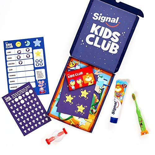 Signal Kids Club Zahnbürstenset für Kinder, 3 bis 6 Jahre, Zahnpasta für Kinder, 50 ml
