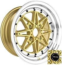 Drag Wheels DR-20 15x7 4x100 et10 Gold rims
