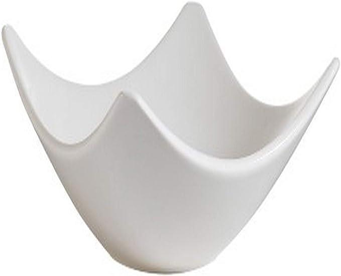 2-3//4 by 2-1//8 by 1-1//4 CAC China SHA-B42 Sushia 1 oz Porcelain Square Bowl Box of 72 Bone White