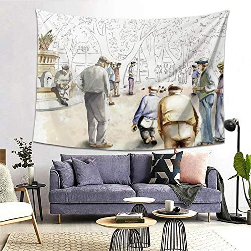 ZGPOJNDKI Tapiz italiano para colgar en la pared, decoración del hogar, para la universidad, estudiantes, dormitorio, sala de estar, dormitorio, 152 x 201 cm