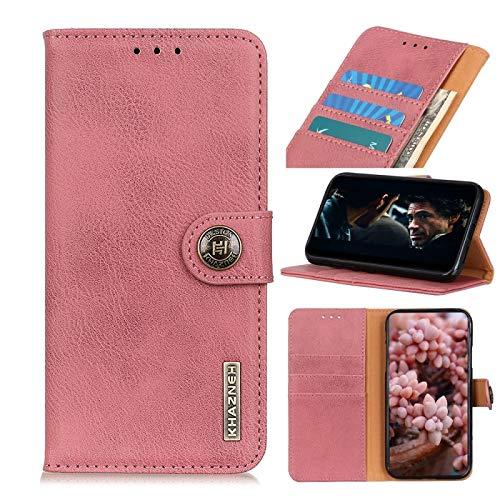 La selección de Cici para Samsung Galaxy S21 Summation 5G Khazneh Cowhide Texture Horizontal Twitch Funda de Cuero con Soporte y Ranuras para Tarjetas y Billetera (Color : Pink)