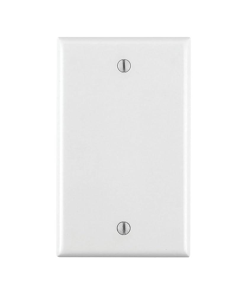 Leviton 80714-W 1-Gang No Device Blank Wallplate, Standard Size, Thermoplastic Nylon, Box Mount, White