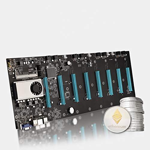 BTC-37 Mining Miner Scheda madre, CPU Set 8 slot per scheda video DDR3 Memoria integrata VGA Interfaccia a basso consumo energetico, per Bitcoin Etherum Mining Support (BTC-S37)