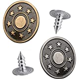 Jean Buttons, 50 Sets Jean Buttons Replaceable Can Adjust The Waist Size to Make it Fit Perfectly, No Sew Metal Pants Buttons, Suitable for Men Women and Children's Jeans and Jean Jacket