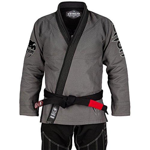 Venum Absolute Gladiator Gi Kimono BJJ, Unisex Adulto, Gris / Negro, A4