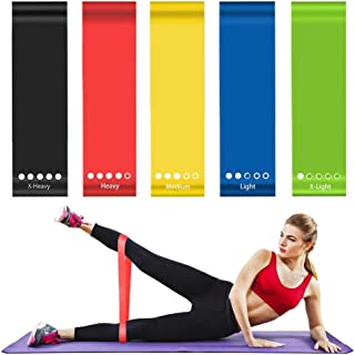 ZOMAKE Resistance Loop Bands, Resistance Exercise Bands for Home Fitness, Strength Training, Physical Therapy, Natural Lat...