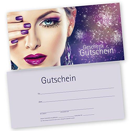 50 Kosmetikstudio – Gutscheinkarten STYLING Gutscheine Geschenkgutscheine