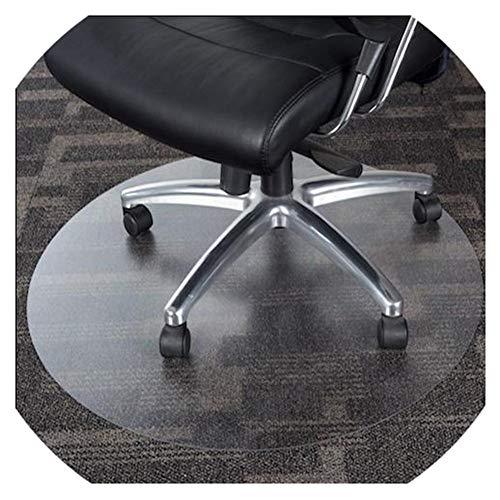 HYCH-Bodenschutzmatte Rund Kunststoff Teppich Rutschfest Haushalt HartholzbodenschutzHohe Temperaturbeständigkeit PVCTransparentes Pad,1mm,90cm