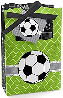 Big Dot of Happiness Goaaal - Soccer - Baby Shower or Birthday Party Favor Boxes - Set of 12