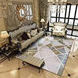 Alfombra geométrica marroquí moderna para áreas oscuras,...