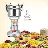 S SMAUTOP Grinder Grinder Elettrico 500g Acciaio per Uso Alimentare per la Macchina della Polvere del macinapepe del Pepe della Spezia dell'erba della Cucina (500g)