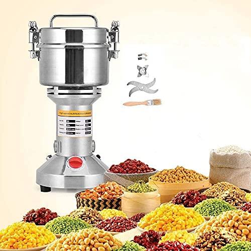 S SMAUTOP Getreidemühle Elektrische 500g Lebensmittelqualität Edelstahl für Küche Kraut Gewürz Pfeffer Kaffeemühle Pulver Maschine (500g)