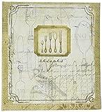 C.R. Gibson Rustic Silverware Recipe Book, 8.32'' W x 9.4'' H x 1.75'' D