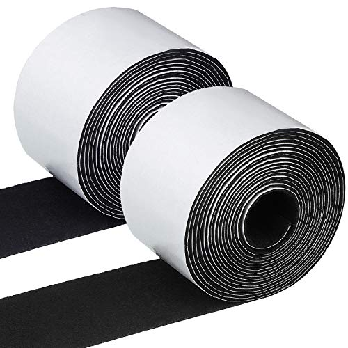 2 Pack Total 20 Feets Felt Strip Roll Polyester Felt Tape Self Adhesive Furniture 1.96 Inch Felt Strips for Furniture and Hard Surfaces
