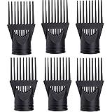 6 pezzi Asciugacapelli ugello pettine Accessorio pettine Diffusore Vento Plastica Asciugacapelli ugello Asciugacapelli Pettine Copertura Per capelli ricci, fini, mossi, per lisciare e districare i