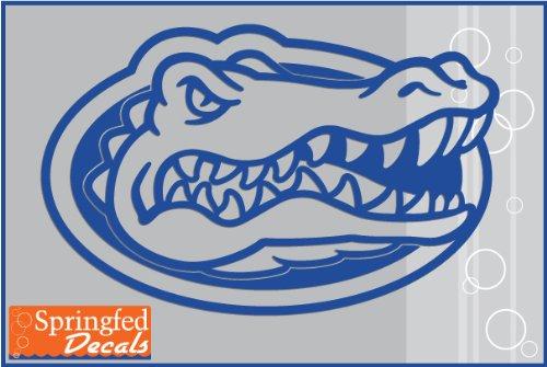 Florida Gators ROYAL BLUE GATOR HEAD LOGO 6' Cut Vinyl Decal Car Truck Window UF Sticker FBA
