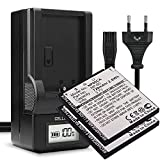 subtel® 2X Batería de Repuesto NP-60 per Casio Exilim EX-S