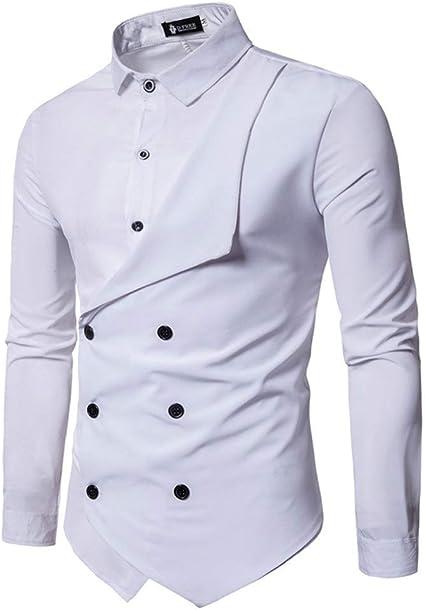 Camisa de hombre Personalidad de los hombres Moda Casual ...
