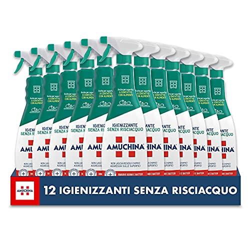 Amuchina Spray Igienizzante Senza Risciacquo, 12 Flaconi da 750 ML