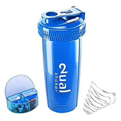 Dual Shaker with Pill Box / Protein Shaker for Protein Powder / BCAA Power / Whey Protein from Dual Shaker