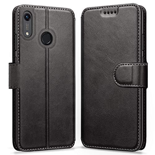 ykooe Lederhülle für Huawei Y6 2019 Hülle, Huawei Honor 8A Flip Wallet Handyhülle PU Leder Handy Schutzhülle für Huawei Y6 2019 / Honor 8A Tasche