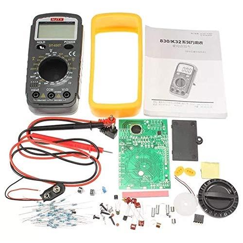 HYY-YY Kit de entrenamiento electrónico DIY DT-830T multímetro digital Kits de mantenimiento