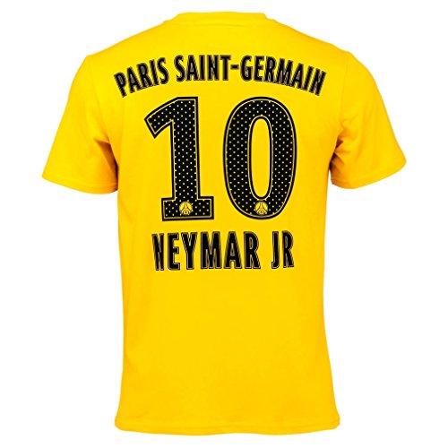 PSG - Officiële Paris Saint-Germain 'Neymar' Heren T-shirt - Geel (XXL)
