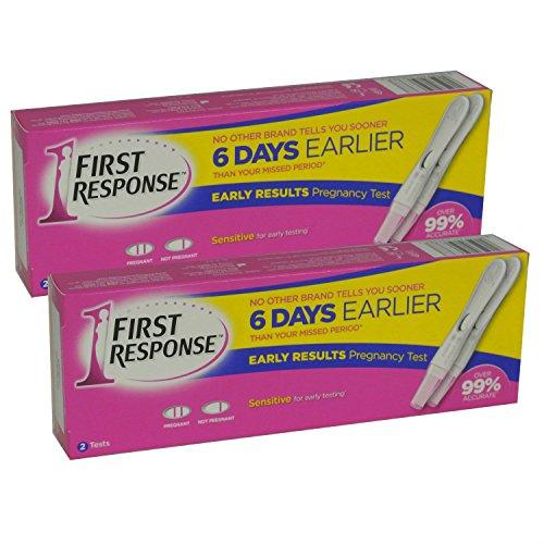 2 x 2 första svaret graviditet testpaket för tidigt resultat