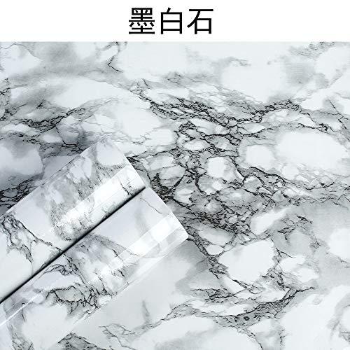 Tapete selbstklebende schlafzimmer wohnzimmer marmor hintergrundbild F8059 Tinte Weiß 60CM