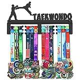 WEBIN Soporte para medallas de taekwondo, soporte para colgar medallas en rack, acero muy duro, para pared, más de 50 medallas