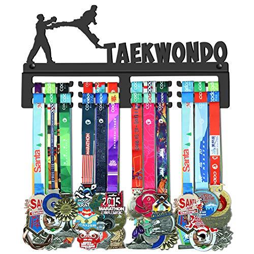 WEBIN Taekwondo Medaillen Aufhänger Halter Display Rack,Schwarz Super Hart Stahl Metall,Wandmontage Über 50 Medaillen