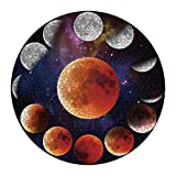 Jigsaw Puzzle 1000 Piece for Adults 1000 Piece Puzzles for Adults and Kids Large Round Moon Phases Unique Scenery