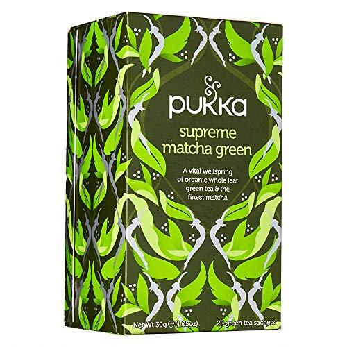 PUKKA HERBAL AYURVEDA Organic Supreme Green Matcha Tea 20bags (PACK OF 1)