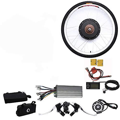 """BTdahong 26"""" Kit de Conversión E-Bike, Kit de Motor de Bicicleta Eléctrica de 48V 1000W LCD para Rueda Trasera"""