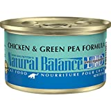 Natural Balance L.I.D. Limited Ingredient Diets Wet Cat Food, Chicken & Green Pea Formula, 3 Ounce...