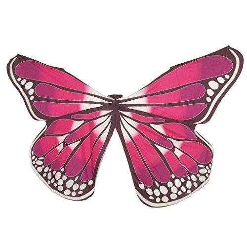 MUNAFIE Bauchtanz-Flügel, Halloween, Weihnachten, Party, bunte Schmetterlingsflügel - - Erwachsene