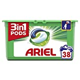 Ariel 3 en1 Pods Original Detergente en Cápsulas - Pack de 3, 38 Lavados (total de 114 lavados)