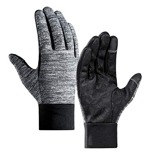 Fine Winter Warm Gloves, Touchscreen Gloves Cycling Nonslip Windproof Sports Gloves for Running, Biking, Driving, Climbing, Hiking (As Shown, L)