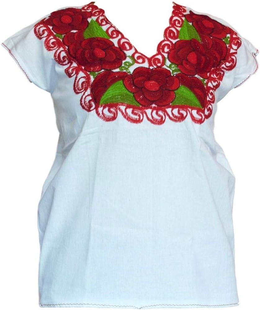Embroidered Mexican Blouse MEDIUM Fiesta Blouse Huipil Blusa Mexicana Bordada Chiapas Blouse Blusa Zinacantan
