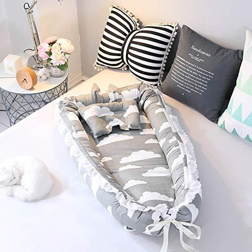 Kinderbett Babywiege,Tragbares Weiches Und Atmungsaktives Nest Für Babys/Atmungsaktiv Hypoallergen Für 0-36 Monate Kinder,Harmonischer Babyschlaf,D