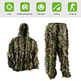 PELLOR Youth Ghillie Suits, 3D Leafy Ghille Suit for Youth Boys, Kid Hooded...