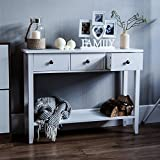 Vida Designs Windsor 3 Drawer Console Table With Shelf White Wooden Hallway