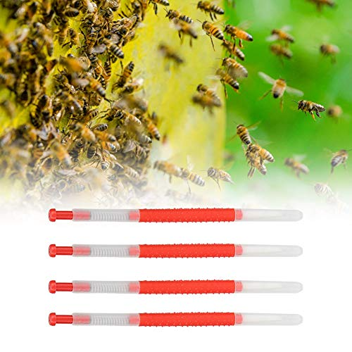 4 Unids Plástico Apicultura Injerto Agujas de Cambio en Movimiento Herramienta Colmena Abeja Reina Larva Cría Equipo de Alimentación para Apicultor de Jardín