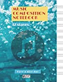 Music Composition Notebook Closeup of bubbles underwater cover, 12 staves per page, 100 pages - Large(8.5 x 11 inches)